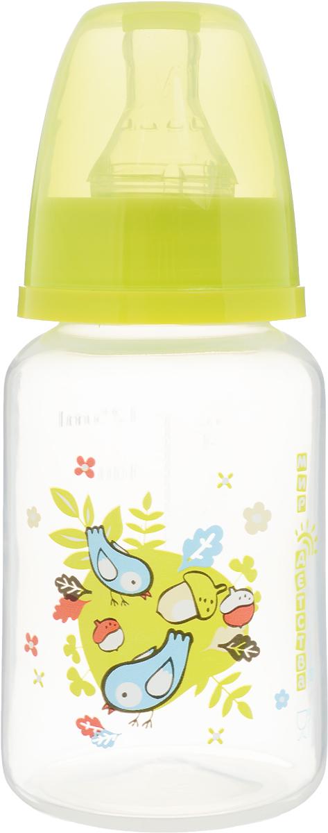 Мир детства Бутылочкадля кормления с силиконовой соской цвет желтый 125 мл -  Бутылочки
