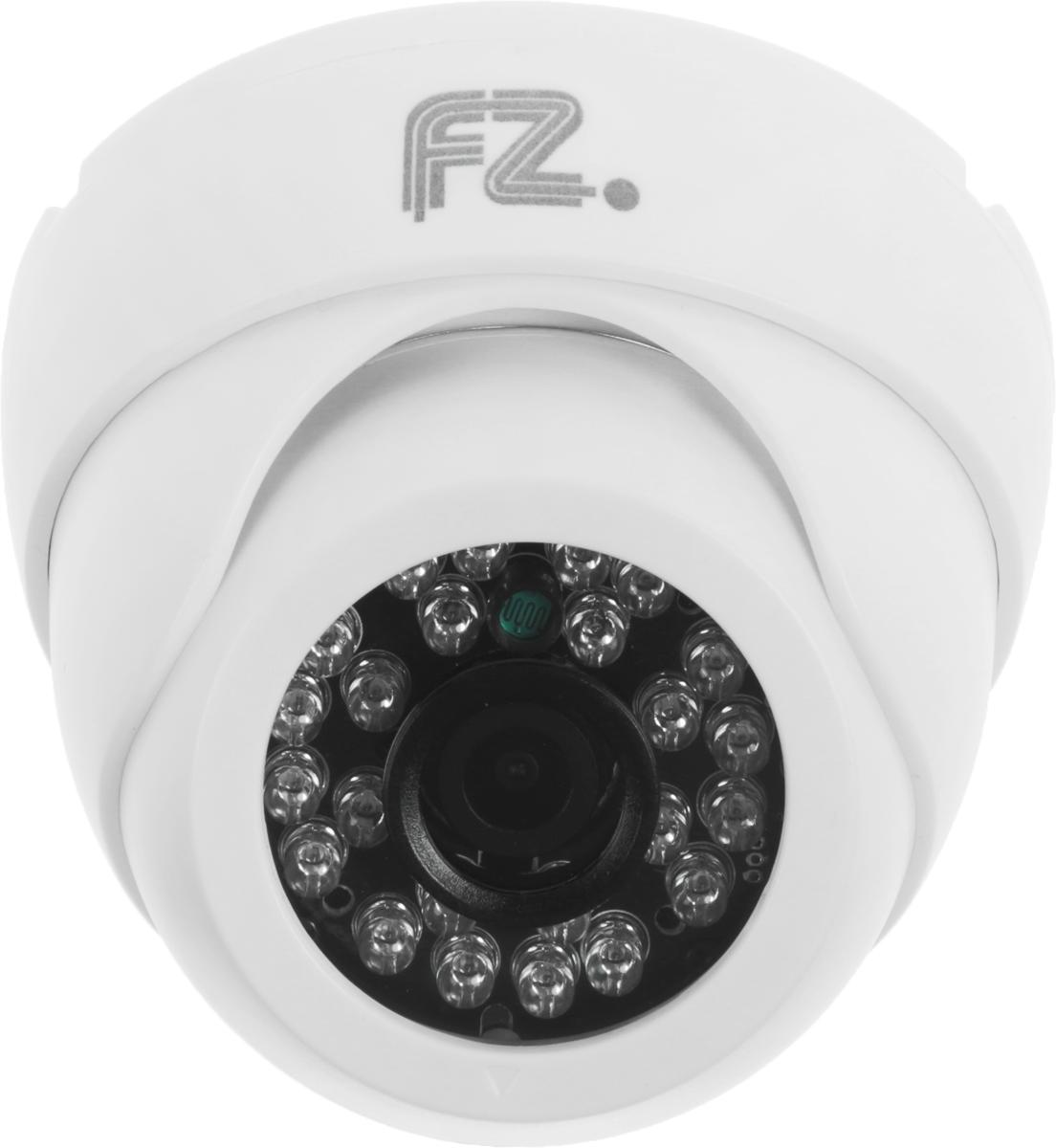Fazera FZ-DIRP24-720 камера видеонаблюденияFZ-DIRP24-720Благодаря наличию инфракрасной подсветки дальностью 20 метров, и надежной защитой от атмосферных воздействий в широком диапазоне температур, камера видеонаблюдения Fazera FZ-DIRP24-720 может эксплуатироваться в различных типах помещений.В основе камеры матрица 1/4 CMOS OmniVision OV9712 и процессор HiSilicon HI3518E благодаря чему уличная IP-камера Fazera FZ-DIRP24-720 формирует изображение с разрешением до 1280x720 пикселей, с качественной цветопередачей и повышенной контрастностью, что позволяет использовать видеокамеру на объектах с высокими требованиями к качеству видеосигнала, и в системах с видеоаналитикой.Матрица: 1/4 CMOS OmniVision OV9712Процессор: HiSilicon HI3518EМеханический ИК-фильтр с автопереключениемНастройки яркости, контраста, насыщенности через клиентское ПО или веб браузер