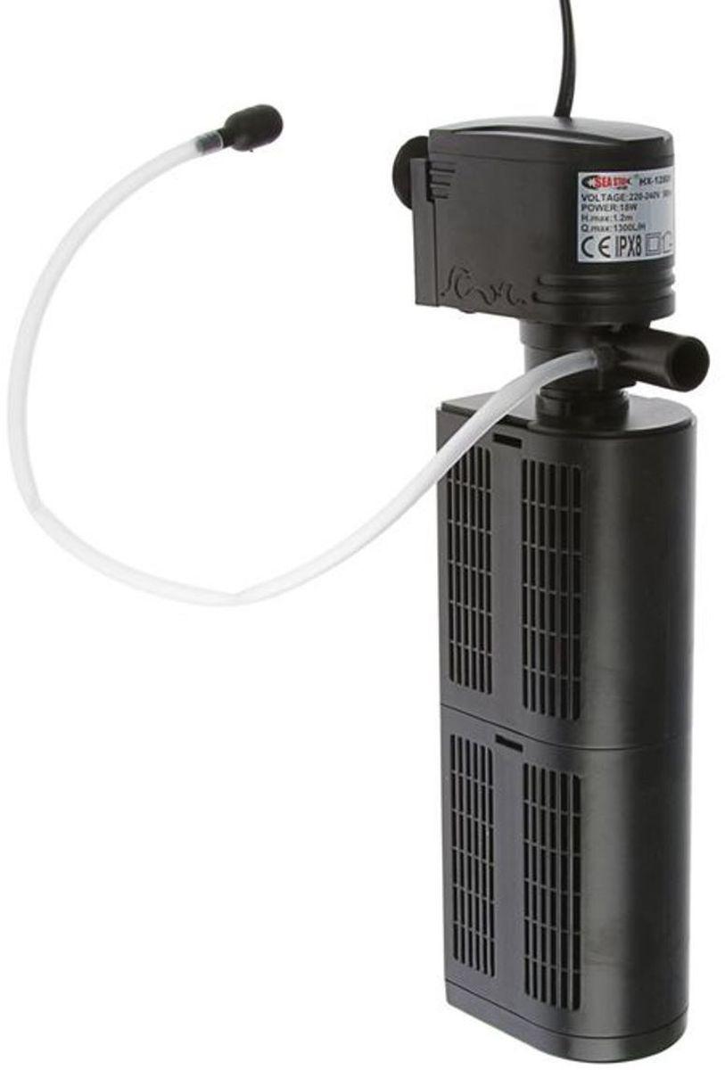 Фильтр для аквариума Sea Star HX-1280F2, внутренний, 18W, 1300 л/ч фильтр для аквариума sea star hx 1480f2 внутренний 35w 2800 л ч