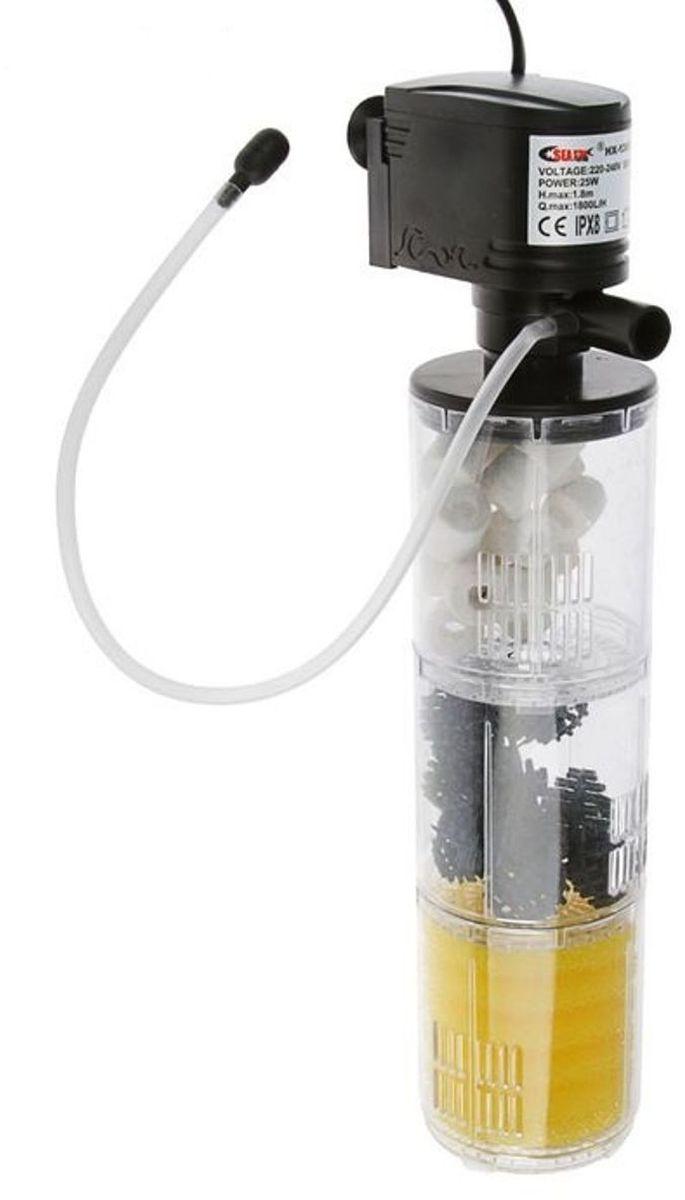 Фильтр внутренний аквариумный Sea Star HX-1380F, камерный, с бионаполнителем, 1800 л/ч, 25 Вт