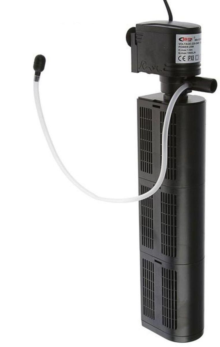 Фильтр для аквариума Sea Star HX-1380F2, внутренний, 25W, 1800 л/чHX-1380F2Фильтр Sea Star HX-1380F2 крепится внутри аквариума глубиной до 0,8 метров. Главный плюс использования погружного очистителя - минимальный уровень шума. Внутренний фильтр Sea Star HX-1380F2 сделает воду в вашем аквариуме прозрачной и пригодной для жизни всех рыбок и растений. Благодаря продвинутой системе очистки агрегат эффективно удаляет вредные микроорганизмы и ненужный сор. Устройство не создает течений и волн, а химически инертные материалы гарантируют безопасность для обитателей. При необходимости наполнитель можно заменить новой губкой. Чистка фильтра должна производиться при полном отключении его от сети. При должном уходе и соблюдении техники безопасности он прослужит долго и продуктивно.