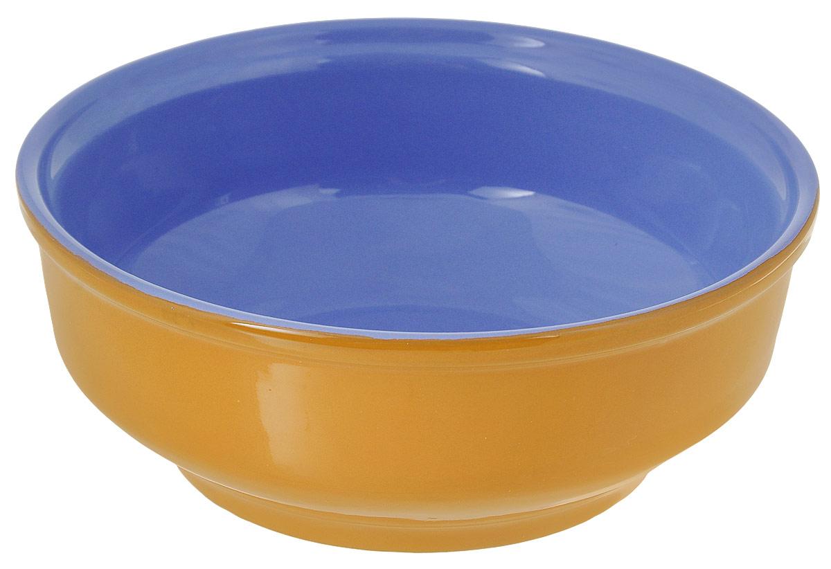 Салатник Борисовская керамика Русский, цвет: желтый, голубой, 500 млРАД00000471_желтый, фиолетовыйСалатник Борисовская керамика Русский выполнен из керамики, произведенной из экологически чистой красной глины с покрытием пищевой глазурью. Изделие можно использовать для подачи супов, каш, мюсли, хлопьев с молоком, также подойдет для сервировки салатов, закусок, соусов и многого другого.Посуда Борисовская керамика подчеркнет прекрасный вкус хозяйки и станет отличным приобретением для кухни. Можно использовать в духовке и микроволновой печи.Диаметр салатника (по верхнему краю): 16 см. Высота салатника: 6 см.