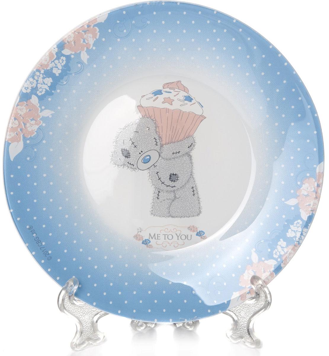 Тарелка Pasabahce Me To You, цвет: голубой, диаметр 19,5 см10327SLBD39Тарелка Pasabahce Me To You выполнена из качественного стекла голубого цвета. Тарелка прекрасно подойдет в качестве сервировочного блюда для фруктов, десертов, закусок, торта и другого. Диаметр тарелки: 19.5 см.