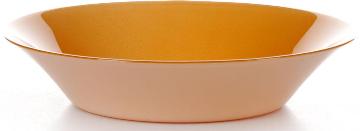 Тарелка глубокая Pasabahce Оранж Виллаж, цвет: оранжевый, диаметр 22 см
