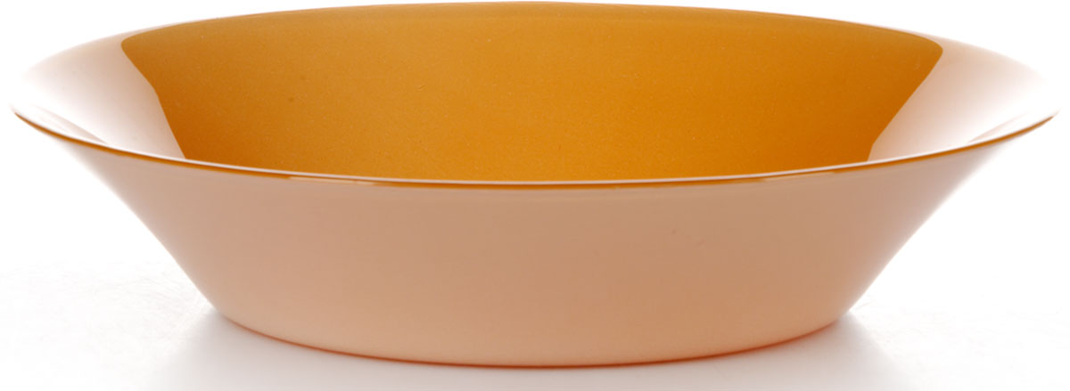 Тарелка глубокая Pasabahce Оранж Виллаж, цвет: оранжевый, диаметр 22 см10335SLBD15Салатник оранжевого цвета d=220 мм, 220 х 220 х 50 мм