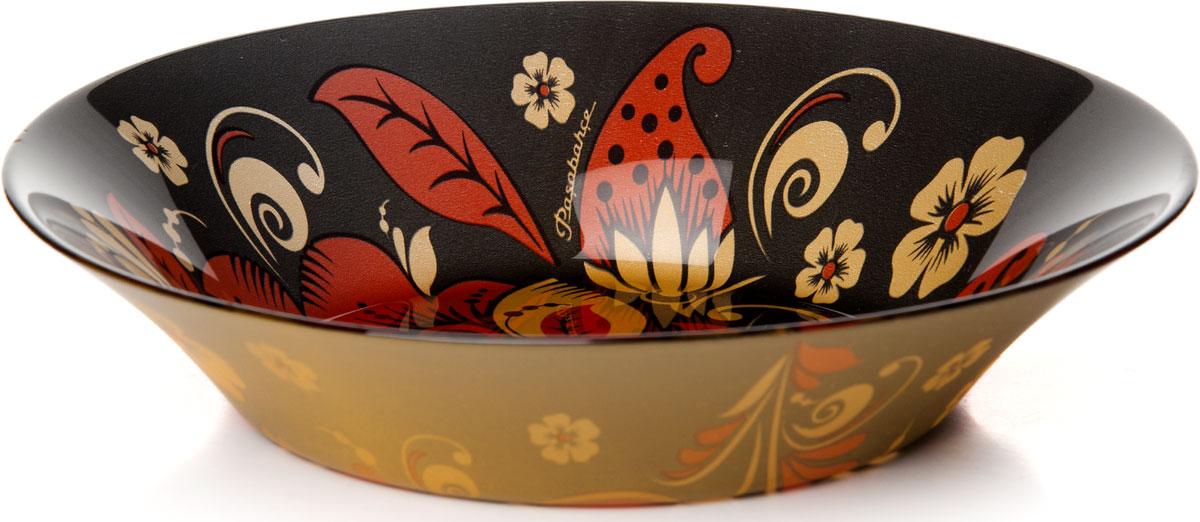 Тарелка глубокая Pasabahce Хохлома, диаметр 22 см