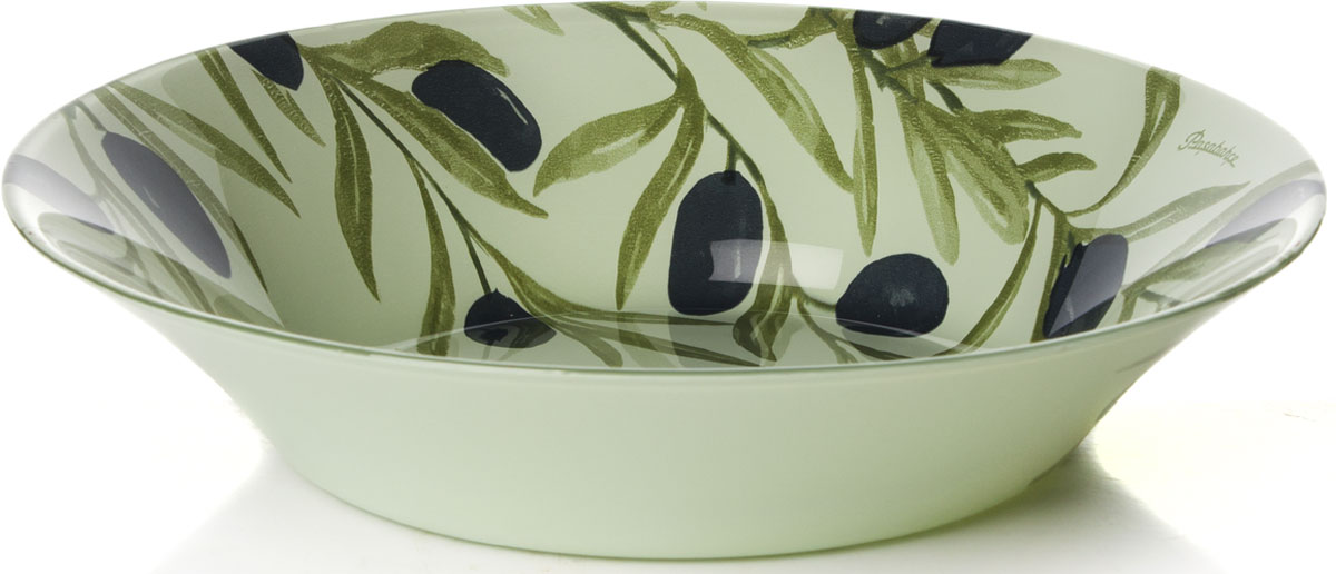 Тарелка глубокая Pasabahce Олива, диаметр 22 см10335SLBD35Глубокая тарелка Pasabahce Олива выполнена из качественного стекла и украшена рисунком гжель. Изящная тарелка прекрасно оформит праздничный стол и порадует вас и ваших гостей изысканным дизайном и формой.Диаметр тарелки: 22 см.Высота: 4,5 см.