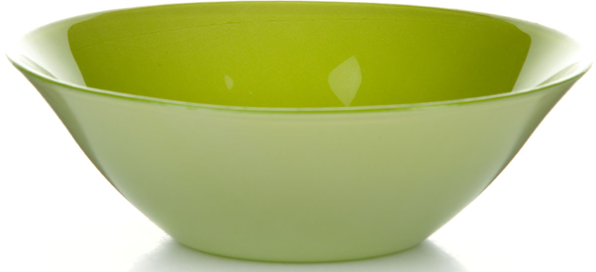 Салатник Pasabahce Грин Виллаж, цвет: зеленый, диаметр 14 см салатник nina glass ажур цвет сиреневый диаметр 16 см