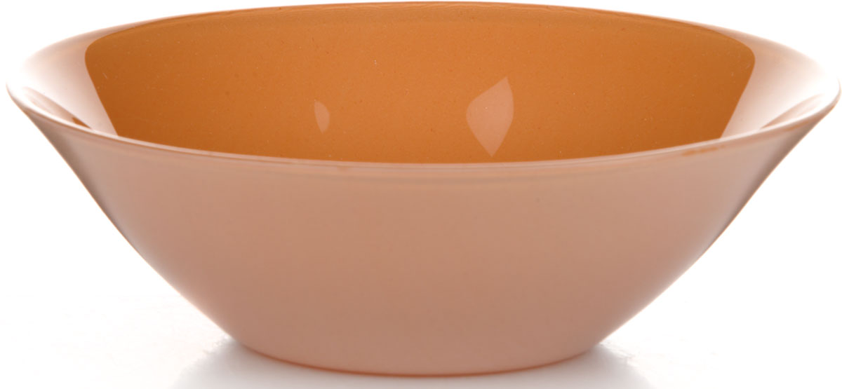 Салатник Pasabahce Оранж Виллаж, цвет: оранжевый, диаметр 14 см салатник nina glass ажур цвет сиреневый диаметр 16 см