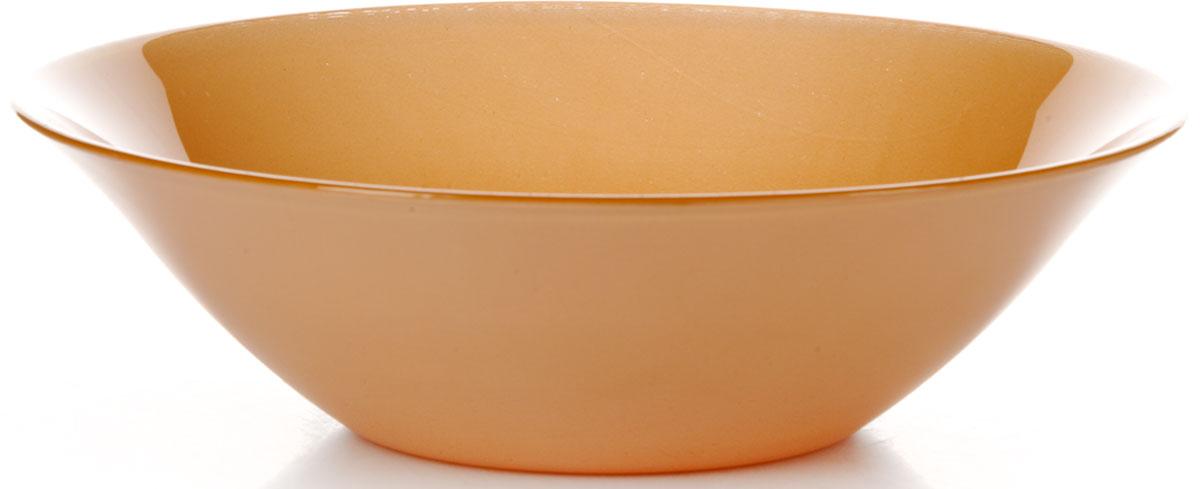 Салатник Pasabahce Оранж Виллаж, цвет: оранжевый, диаметр 23 см салатник nina glass ажур цвет сиреневый диаметр 16 см