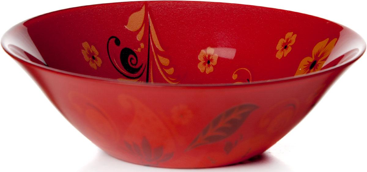 Салатник Pasabahce Хохлома, диаметр 16,2 см10533SLBD33Салатник Хохлома изготовлен из упрочненного стекла и украшен рисунком хохлома. Такой салатник украсит сервировку вашего стола и подчеркнет прекрасный вкус хозяина, а также станет отличным подарком. Диаметр салатника: 16,2 см.Высота: 5 см.