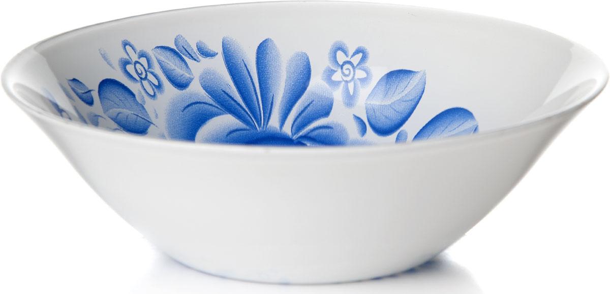 Салатник Pasabahce Гжель, диаметр 16,2 см10533SLBD34Салатник Гжель изготовлен из упрочненного стекла и украшен рисунком гжель. Такой салатник украсит сервировку вашего стола и подчеркнет прекрасный вкус хозяина, а также станет отличным подарком. Диаметр салатника: 16,2 см.