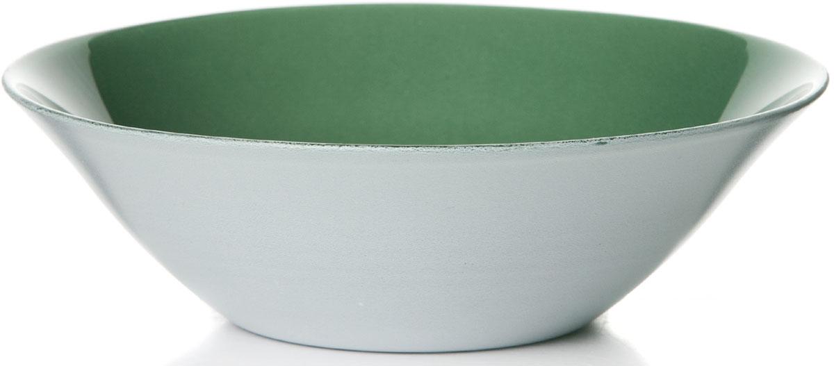 """Салатник """"Грин Сити"""" изготовлен из упрочненного стекла зеленого цвета.  Такой салатник украсит сервировку вашего стола и подчеркнет прекрасный вкус хозяина, а также станет отличным подарком.  Диаметр салатника: 16 см."""