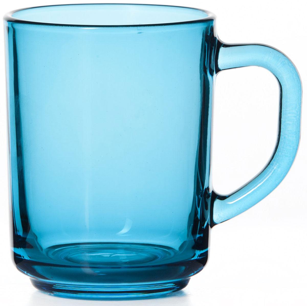 Кружка Pasabahce Энжой Блю, цвет: голубой, 250 мл55029SLBD31Кружка Pasabahce Энжой Блю изготовлена из прозрачного цветного стекла. Изделие идеально подходит для сервировки стола.Кружка не только украсит ваш кухонный стол, но и подчеркнет прекрасный вкус хозяйки. Диаметр кружки (по верхнему краю): 8 см. Высота кружки: 9,5 см. Объем кружки: 340 мл.