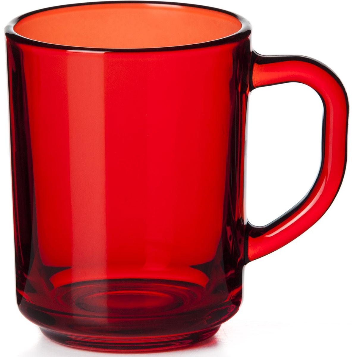 Кружка Pasabahce Энжой Рэд, цвет: красный, 250 мл