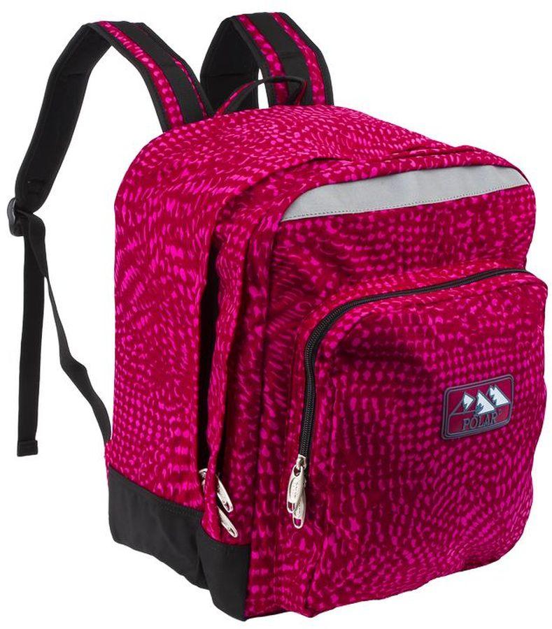 Polar Рюкзак цвет темно-розовыйП3821-29Рюкзак Polar с отделением для ноутбука с экраном до 15.4. Рюкзак имеет полностью вентилируемую, удобную и мягкую спинку, мягкие плечевые лямки создают дополнительный комфорт при ношении. Центральный отсек рюкзака подойдет для персональных вещей и документов A4, большие карманы - для аксессуаров и персональных вещей. Светоотражающие элементы делают ребенка заметнее на дороге в темное время суток, повышая его безопасность.