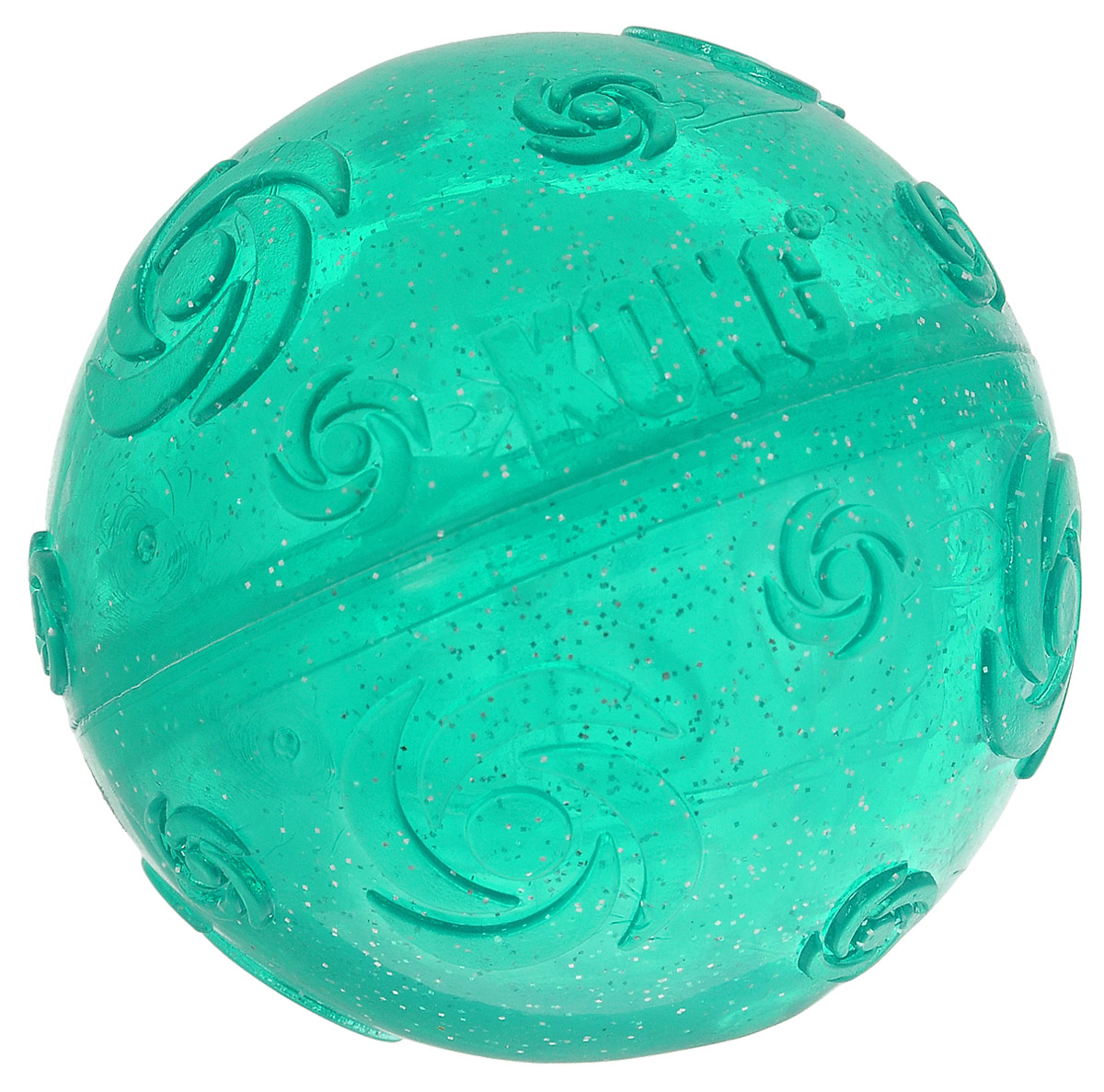 Игрушка для собак Kong Squezz Crackle, хрустящий мячик, цвет: зеленый, диаметр 7 см