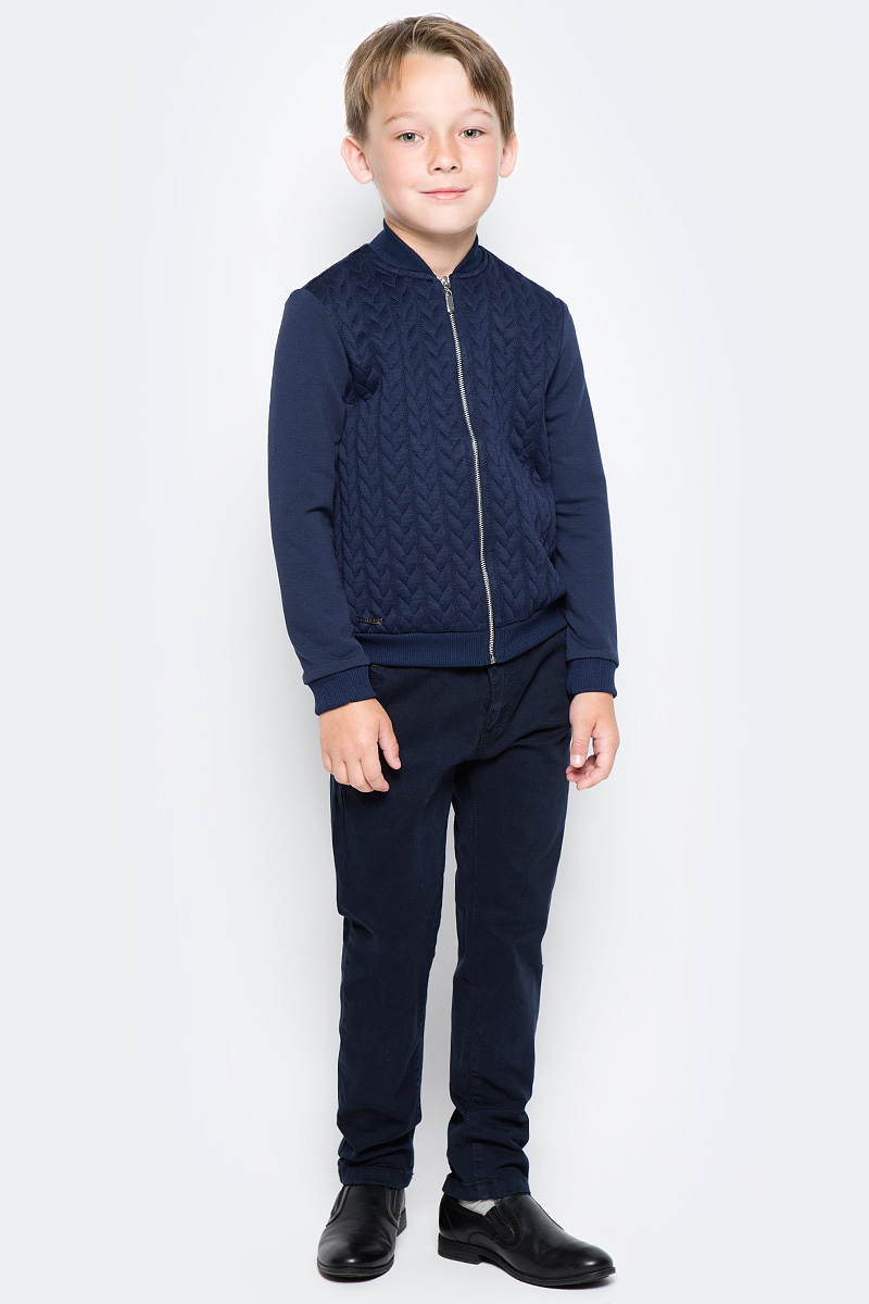 джемпер для мальчика nota bene цвет темно синий cjk17017b29 размер 164 Кофта для мальчика Nota Bene, цвет: темно-синий. CJZ17001A29. Размер 122