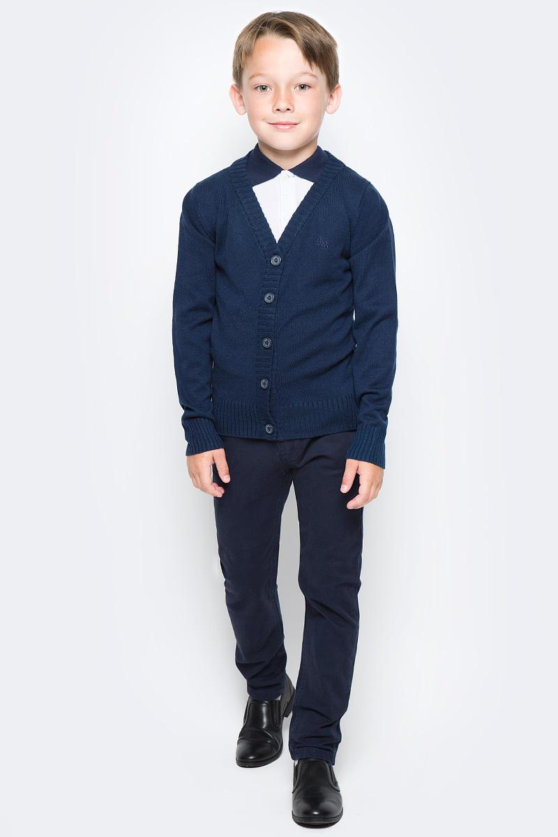 Кардиган для мальчика Button Blue, цвет: темно-синий. 215BBBS3603. Размер 158, 13 лет шапка для мальчика button blue цвет синий 217bbbx73054000 размер 52