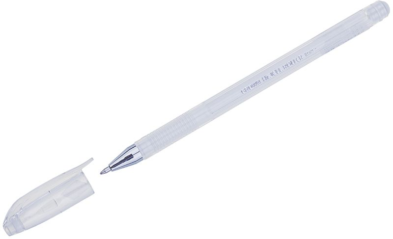 Crown Ручка гелевая пастель белаяHJR-500PКлассическая гелевая ручка Crown модели HJR-500P имеет легкий прозрачный корпус с рельефным упором. Изящная линия письма придает мягкость ровному скольжению по бумаге. В гелевой ручке Crown содержатся специальные чернила, в состав которых входит вода и масляная основа. Такие водостойкие чернила хорошо пишут при низких температурах и долго не выцветают.