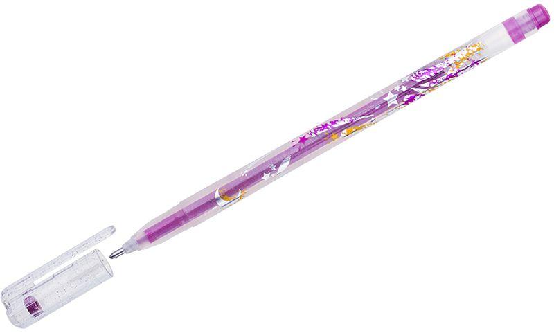 Crown Ручка гелевая Люрекс сиреневаяMTJ-500GLS(D)В гелевой ручке Crown Люрекс содержатся специальные чернила, в состав которых входит вода и масляная основа. Добавление блесток в чернила делает их идеальным инструментом для оформительских работ. Водостойкие чернила хорошо пишут в холодную погоду и долго не выцветают.