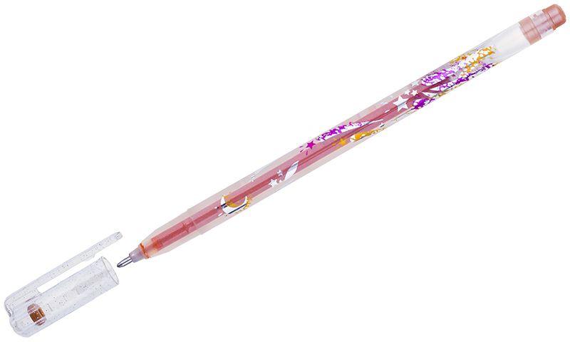 Crown Ручка гелевая Люрекс оранжеваяMTJ-500GLS(D)В гелевой ручке Crown Люрекс содержатся специальные чернила, в состав которых входит вода и масляная основа. Добавление блесток в чернила делает их идеальным инструментом для оформительских работ. Водостойкие чернила хорошо пишут в холодную погоду и долго не выцветают.