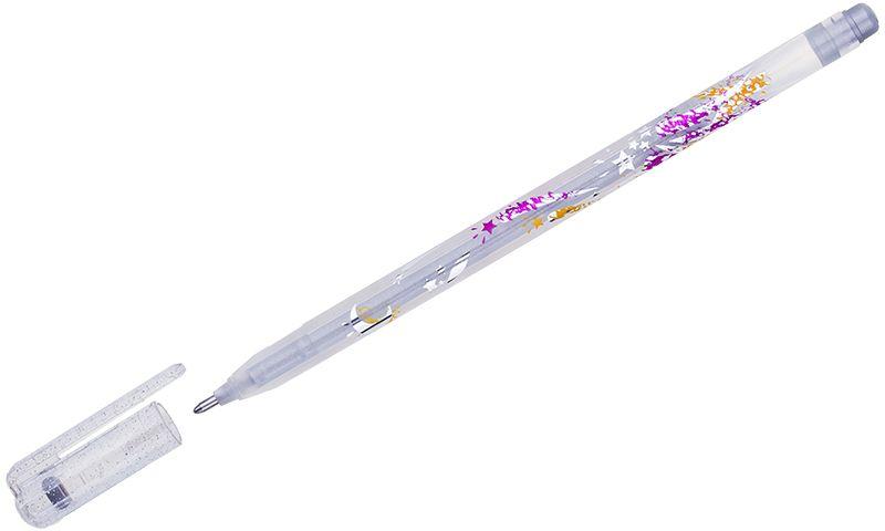 Crown Ручка гелевая Люрекс серебристаяMTJ-500GLS(D)В гелевой ручке Crown Люрекс содержатся специальные чернила, в состав которых входит вода и масляная основа. Добавление блесток в чернила делает их идеальным инструментом для оформительских работ. Водостойкие чернила хорошо пишут в холодную погоду и долго не выцветают.