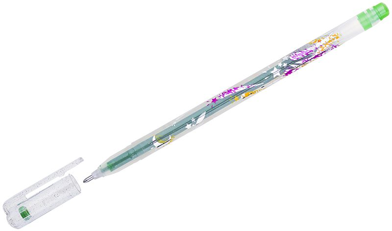 Crown Ручка гелевая Люрекс светло-зеленая samsung gt c3011 midnight black