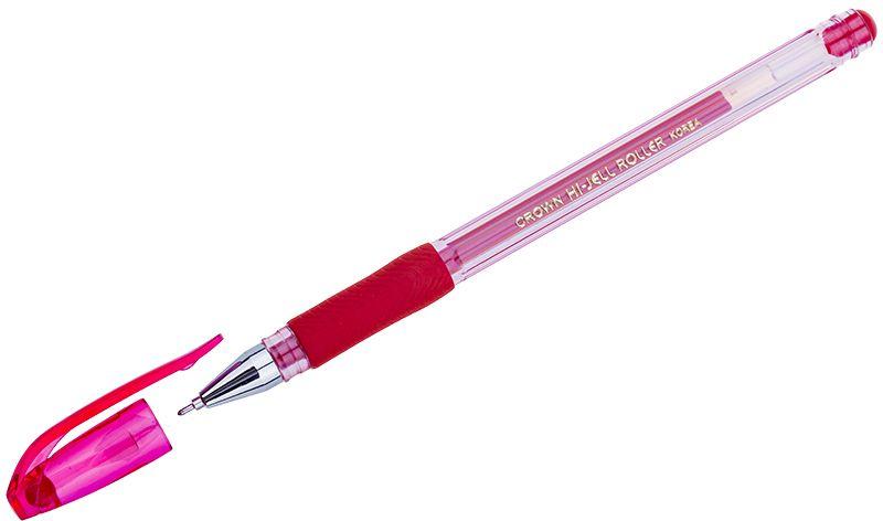 Crown Ручка гелевая краснаяHJR-500RNГелевая ручка Crown модели HJR-500RN с игольчатым стержнем. Водостойкие чернила хорошо пишут при низких температурах и долго не выцветают. Грип-зона со специальной резиновой накладкой предотвращает скольжение ручки в пальцах.