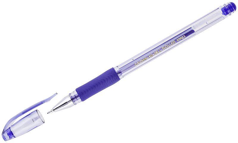 Crown Ручка гелевая синяяHJR-500RNBРучка Crown модели HJR-500RNB - это гелевая ручка высокого качества с игольчатым пишущим узлом. Мягкое письмо обеспечивается за счет мелкодисперсных чернил. В состав чернил входит вода и масляная основа. Водостойкие чернила хорошо пишут в холодную погоду и долго не выцветают. Грип-зона со специальной резиновой накладкой предотвращает скольжение ручки в пальцах