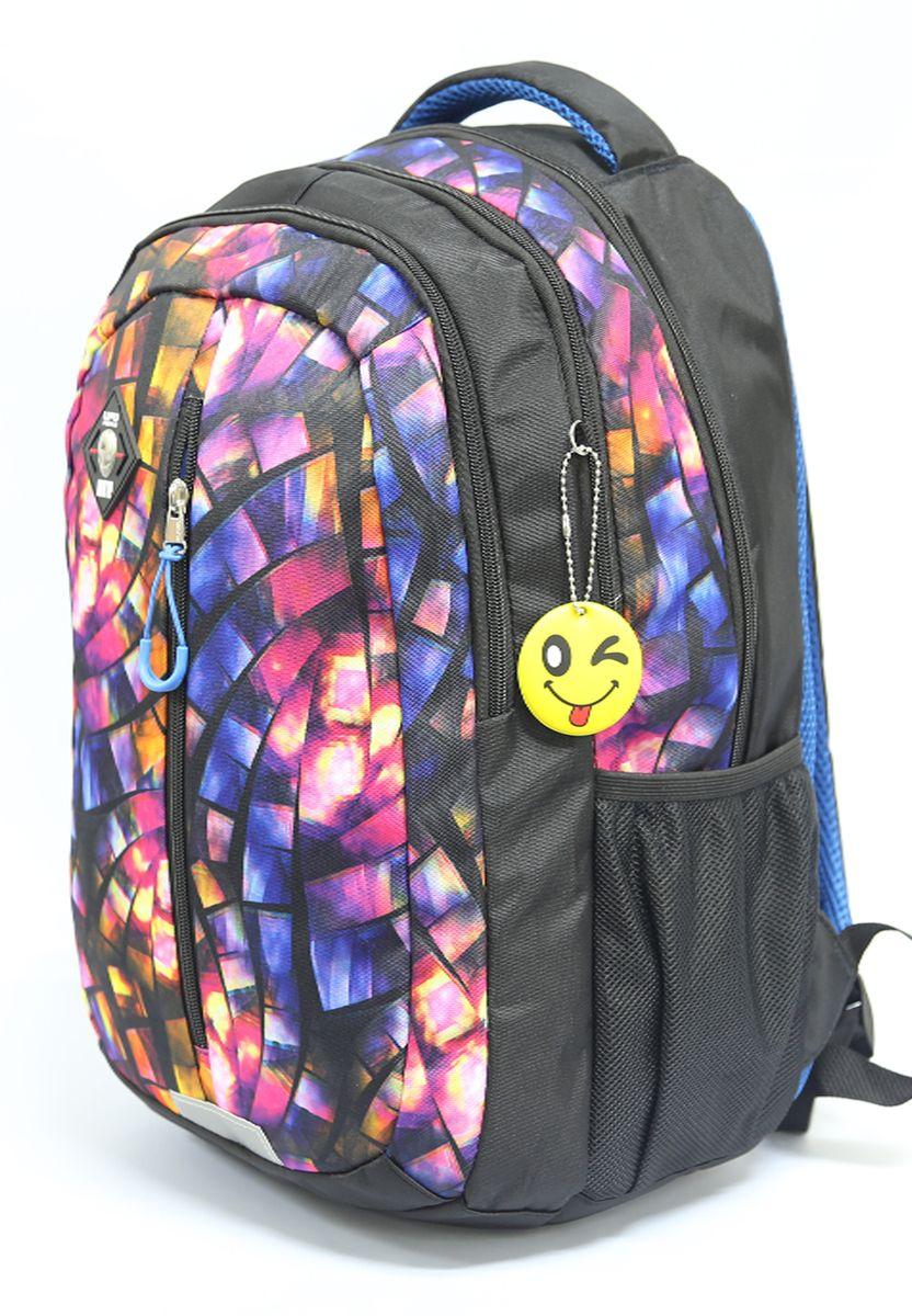 Рюкзак детский UFO people цвет черно-синий 76107610