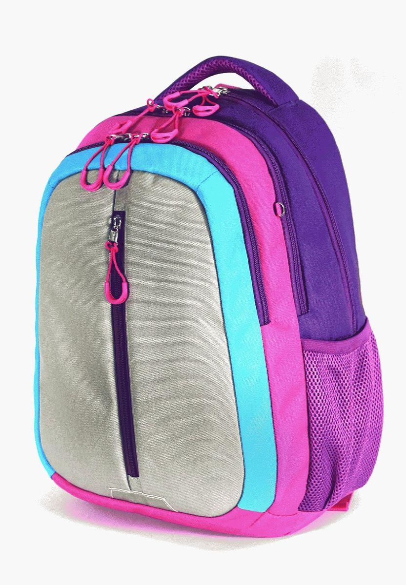 Рюкзак детский UFO people цвет фиолетово-серый 76167616