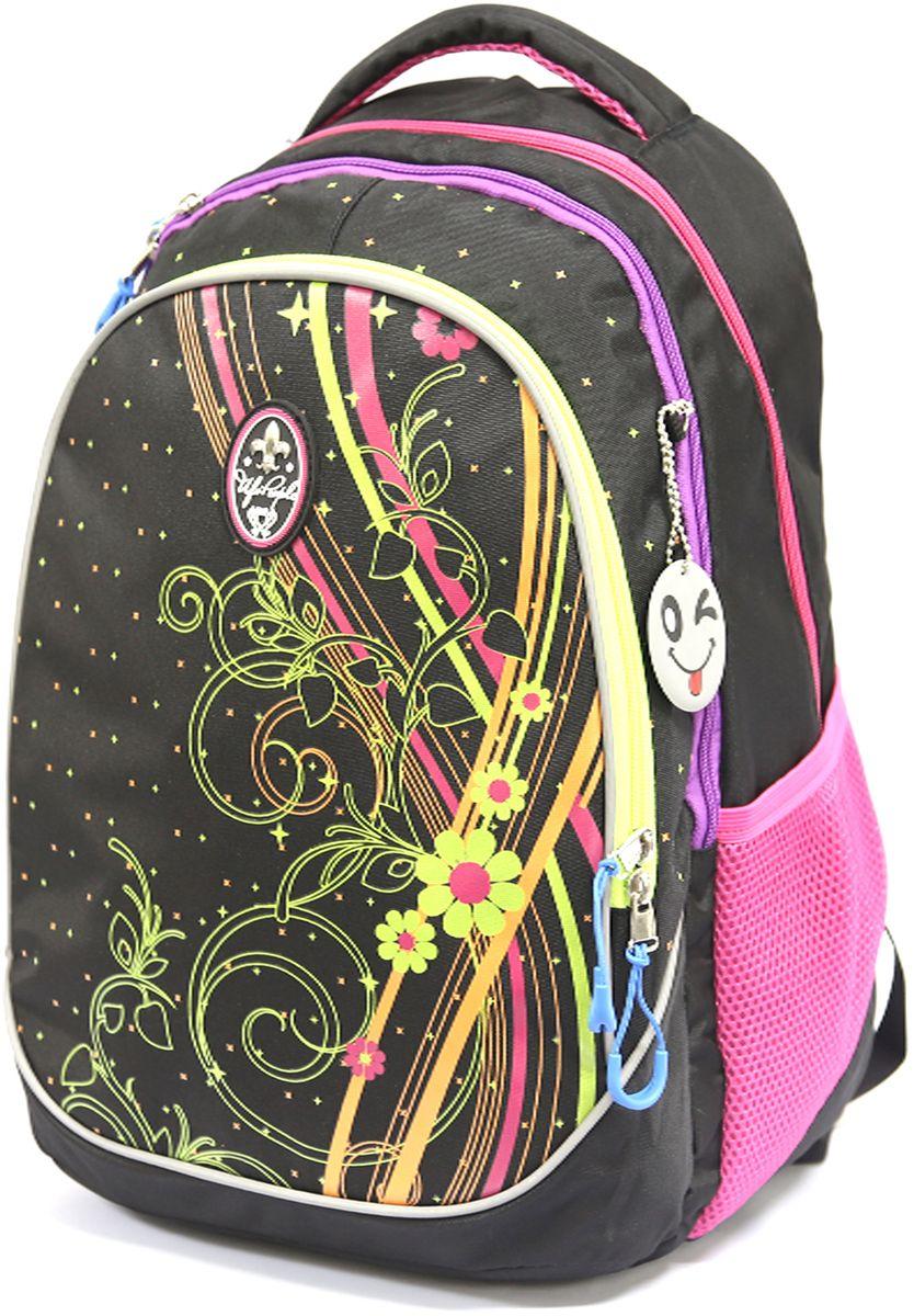 Рюкзак детский UFO people цвет черно-фиолетовый 76437643