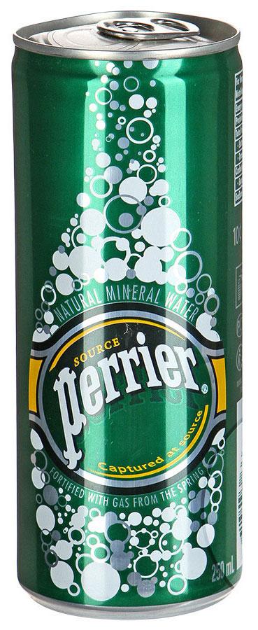 perrier Perrier вода минеральная газированная гидрокарбонатно-кальциевая, 0,25 л