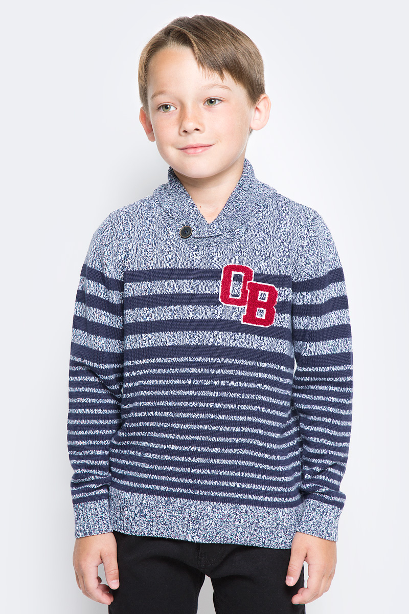 Джемпер для мальчика Overmoon by Acoola Solja, цвет: синий. 21120310003_500. Размер 128 джемпер для мальчика overmoon by acoola baruba цвет серый 21120310004 1900 размер 128