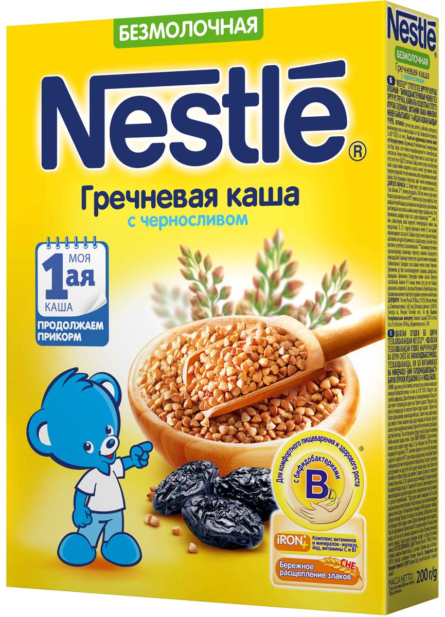 Nestle каша безмолочная гречневая с черносливом, 200 г каша безмолочная малютка гречневая с 4 мес 200 г