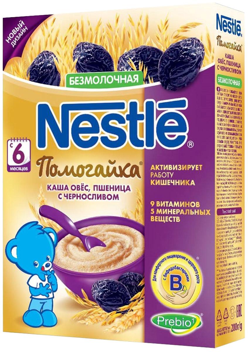 """Nestle """"Помогайка"""" каша безмолочная из овса и пшеницы с черносливом, с 6 месяцев, 200 г"""