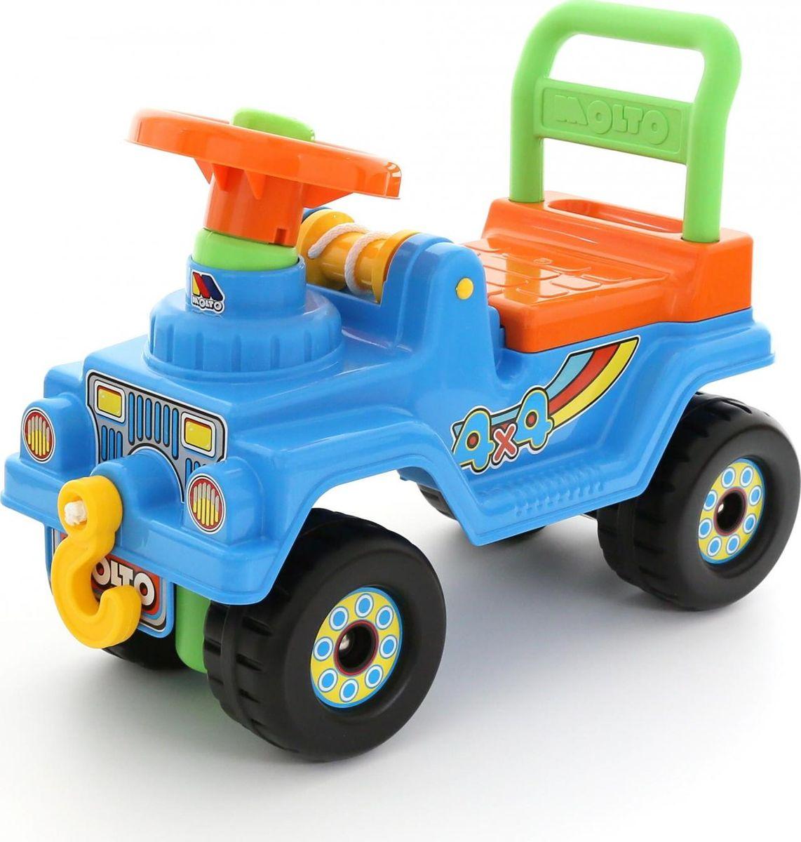 Полесье Автомобиль-каталка Джип 4х4 цвет голубой