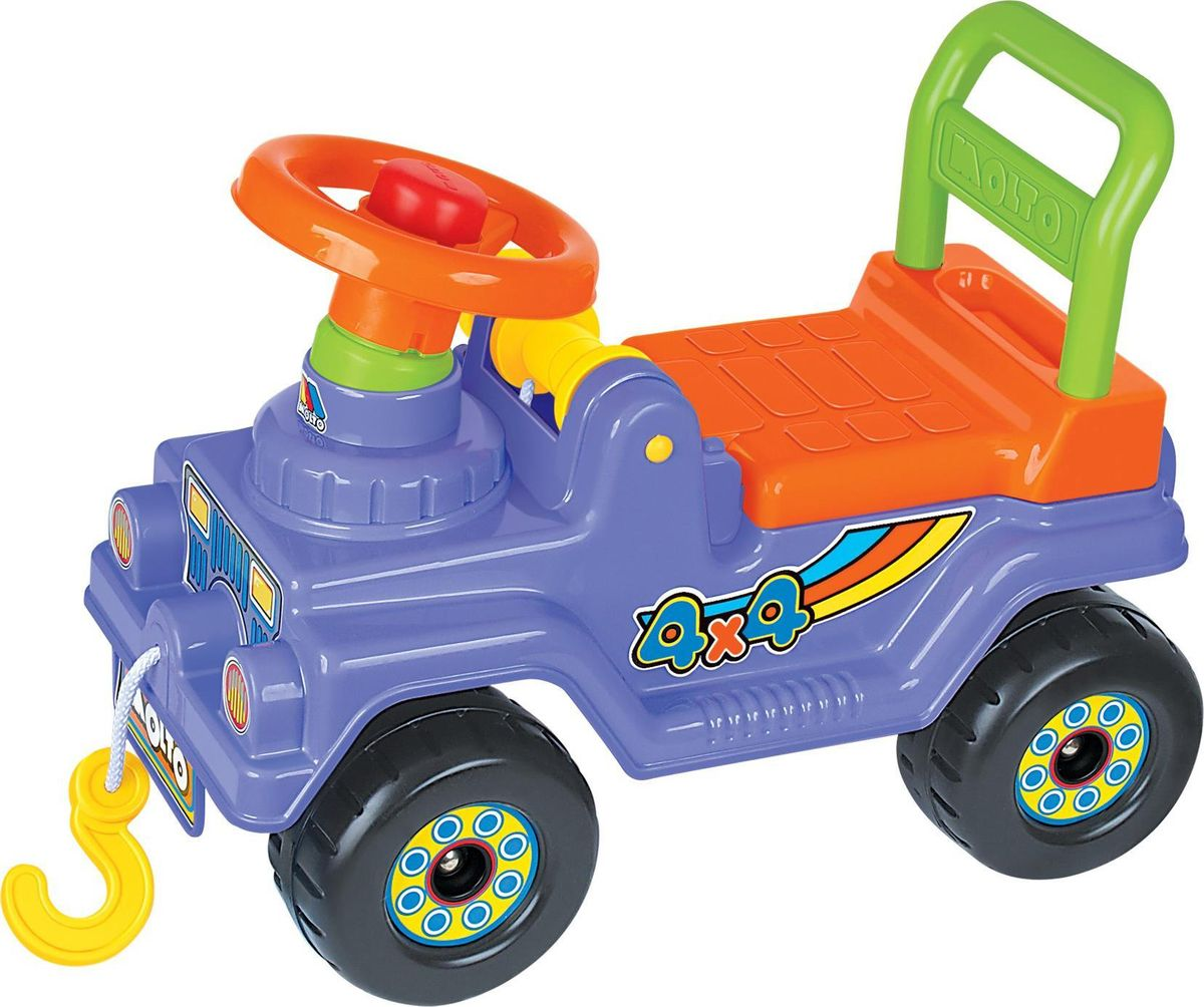 Полесье Автомобиль-каталка Джип 4х4 цвет сиреневый со звуковыми эффектами