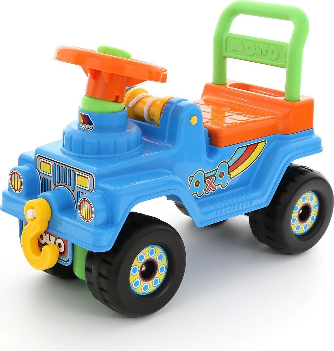 Полесье Автомобиль-каталка Джип 4х4 №2 цвет голубой