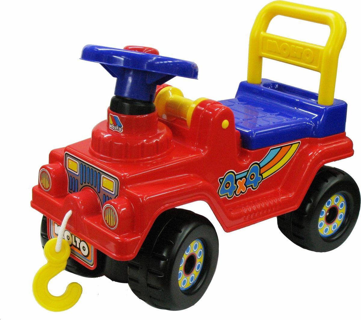 Полесье Автомобиль-каталка Джип 4х4 №2 цвет красный