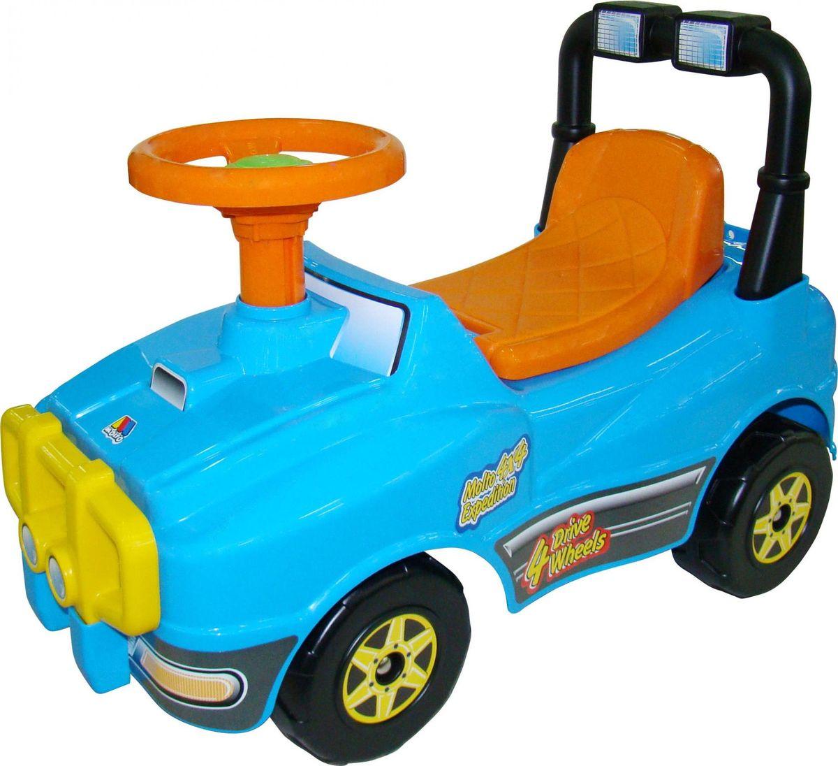 Полесье Джип-каталка цвет голубой полесье каталка пикап с ручкой 2 цвет желтый