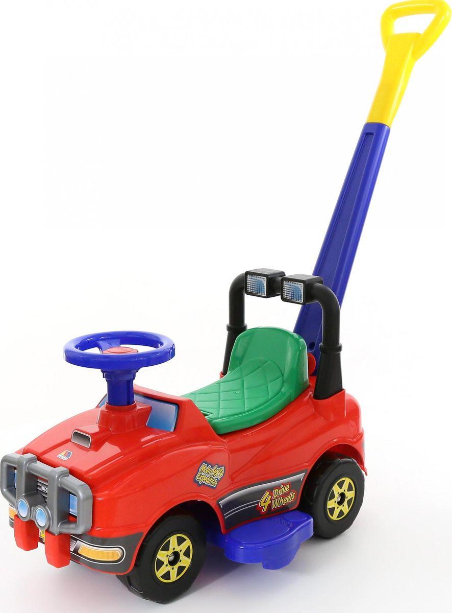 Полесье Автомобиль-каталка Джип с ручкой цвет красный -  Каталки, понициклы