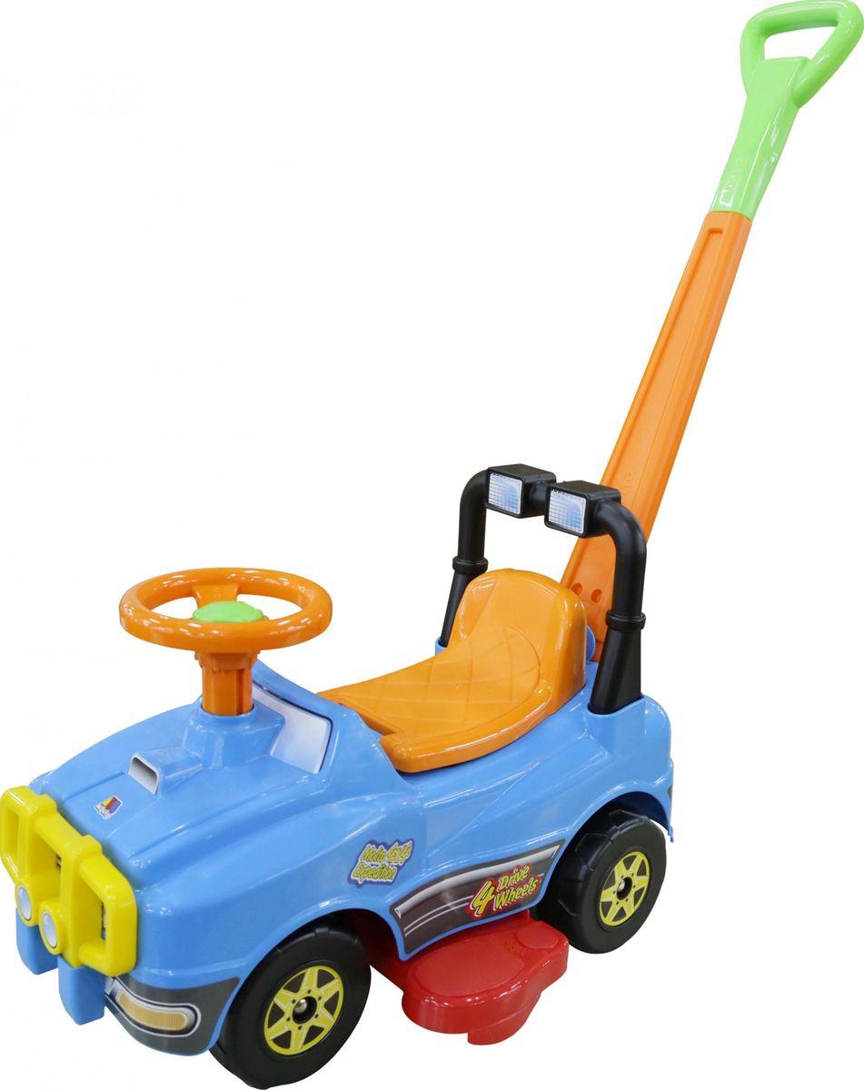 Полесье Автомобиль-каталка Джип с ручкой №2 цвет голубой -  Каталки, понициклы