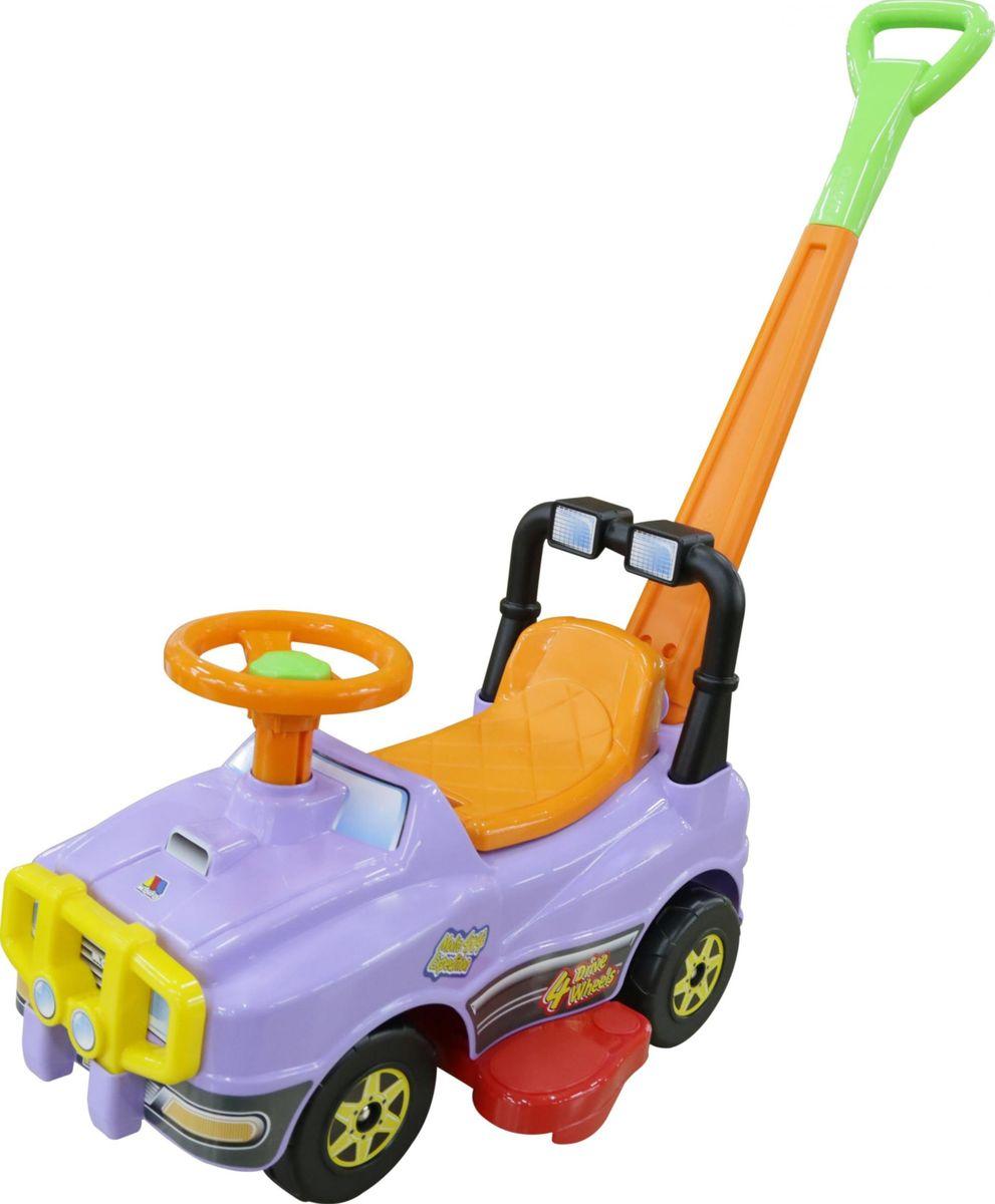 Полесье Автомобиль-каталка Джип с ручкой №2 цвет сиреневый полесье каталка пикап с ручкой 2 цвет желтый