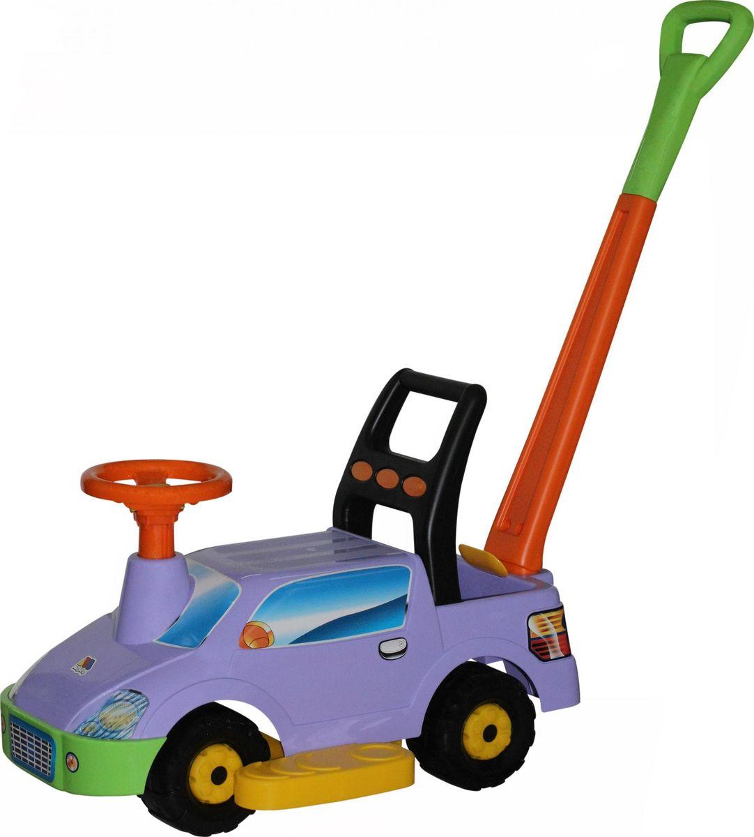 Полесье Каталка Пикап с ручкой №2 цвет сиреневый автомобиль автомобиль иж 2717 в воронеже