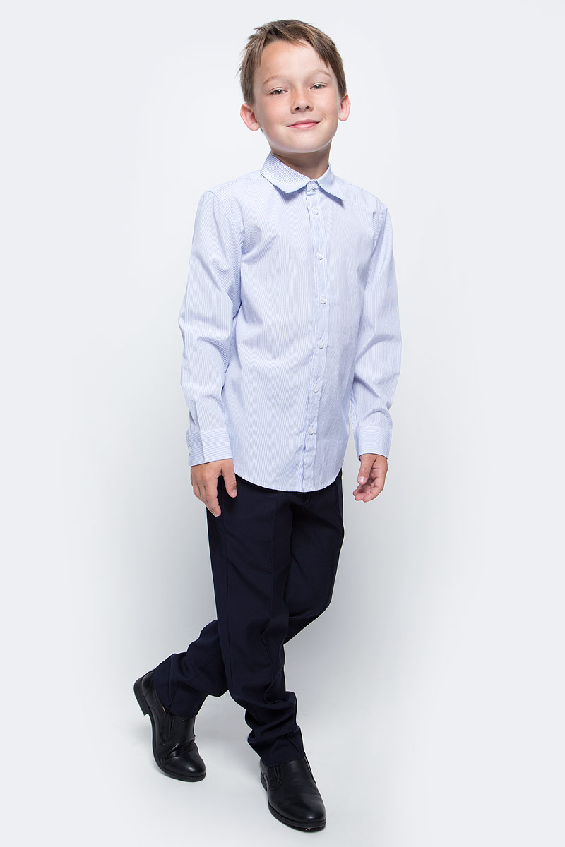 Рубашка для мальчика Sela, цвет: ярко-голубой. H-812/209-7310. Размер 140, 10 летH-812/209-7310Рубашка для мальчика Sela выполнена из высококачественного материала. Модель с отложным воротником и длинными рукавами застегивается на пуговицы. Манжеты застегиваются на пуговицы.