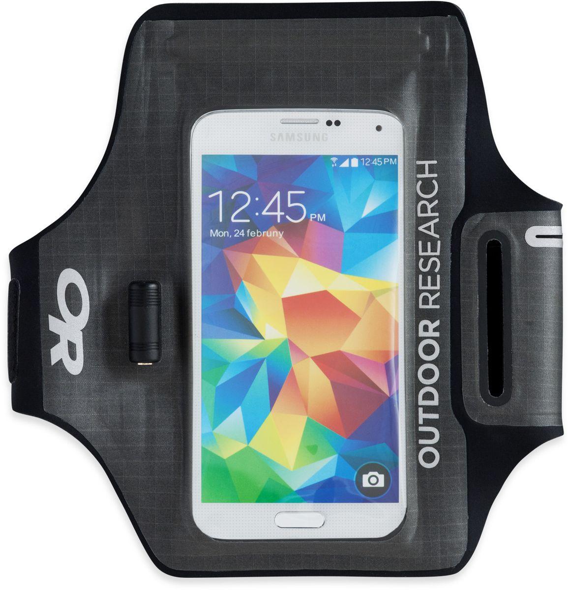 Гермочехол для электроники Outdoor Research Sens Dry Pocket Armband, цвет: серый2440220890Полностью непромокаемый гермочехол Outdoor Research сохранит ваше электронное устройство от попадания влаги. Сенсорный экран позволяет пользоваться телефоном в любых экстремальных условиях. Имеется прозрачное окошко для внешней камеры и водонепроницаемый разъем под наушники. Чехол удобно крепится на руку при помощи браслета на липучке. Добавление материала EVA позволяет улучшить плавучесть чехла. Подходит для iPhone 6/6S, Samsung Galaxy S5 & S6. Не совместим с кнопкой Home в iPhone 7, на прокрутку экрана это не влияет. Длина (с ремешком): 53,3 см.Размер кармана: 10 х 16 см.