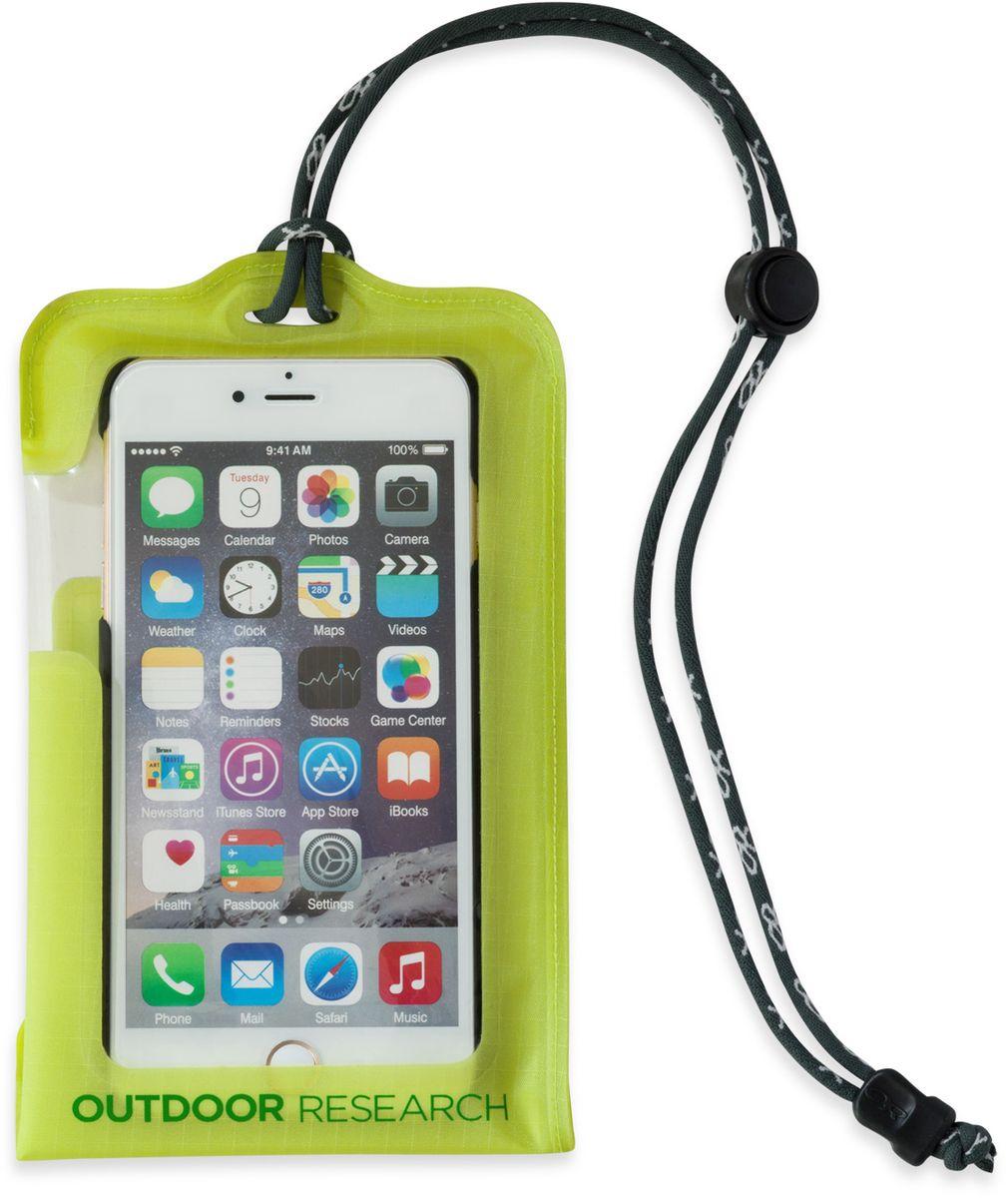Гермочехол для электроники Outdoor Research Dry Pocket Standard, цвет: зеленый2440240489Гермочехол для электроники Outdoor Research прекрасно защитит ваше устройство от намокания и грязи. Чехол выполнен из водонепроницаемого, легкого и прочного материала. Сенсорный экран позволяет пользоваться телефоном в любых экстремальных условиях. Сзади имеется прозрачное окошко для внешней камеры. Чехол снабжен шнурком. Подходит для iPhone 6/6S, Galaxy S5, Galaxy S6. Не совместим с кнопкой Home в iPhone 7, на прокрутку экрана это не влияет.
