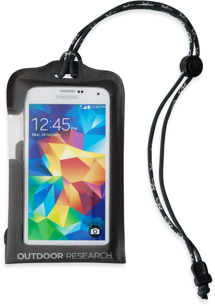 Гермочехол для электроники Outdoor Research Dry Pocket Standard, цвет: серый2440240890Гермочехол для электроники Outdoor Research прекрасно защитит ваше устройство от намокания и грязи. Чехол выполнен из водонепроницаемого, легкого и прочного материала. Сенсорный экран позволяет пользоваться телефоном в любых экстремальных условиях. Сзади имеется прозрачное окошко для внешней камеры. Чехол снабжен шнурком. Подходит для iPhone 6/6S, Galaxy S5, Galaxy S6. Не совместим с кнопкой Home в iPhone 7, на прокрутку экрана это не влияет.